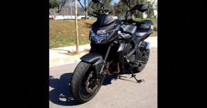 moto vinilo fibra carbono