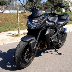 Moto vinilo carbono